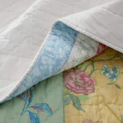 Amelie Handcrafted Multicolored Floral Cotton Quilt