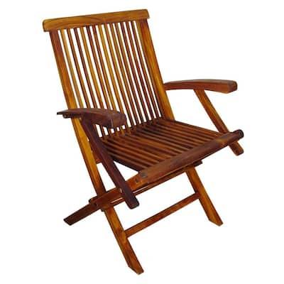 Terrace Mates Folding Patio Arm Chair (Set of 2)