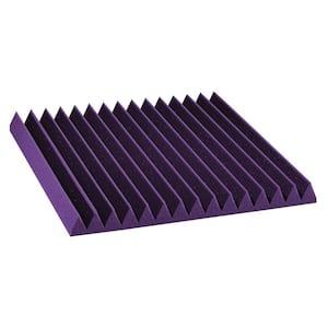 Auralex Studiofoam Wedges - 2 ft. W x 2 ft. L x 2 in. H - Purple (Half-Pack: 12 per Box)