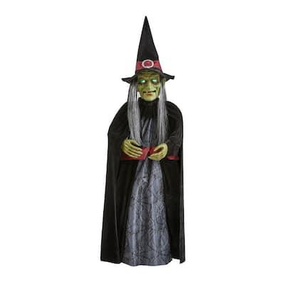 3 ft. Animated LED Rocking Witch