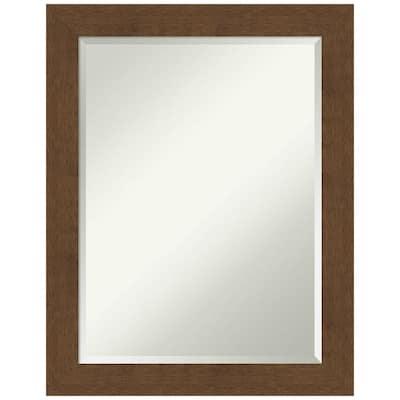 Carlisle 22 in. x 28 in. Rustic Rectangle Framed Brown Bathroom Vanity Wall Mirror