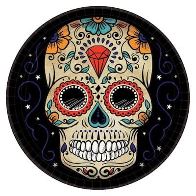 Sugar Skull Halloween Paper Plates (2-Pack)