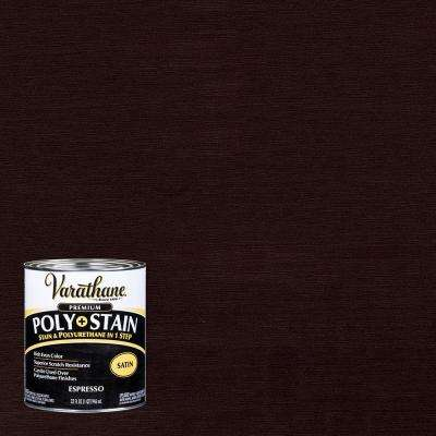 1 qt. Espresso Satin Oil-Based Interior Stain and Polyurethane (2-Pack)