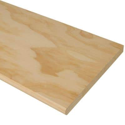 48 in. x 11-1/2 in. Unfinished Pine Stair Tread