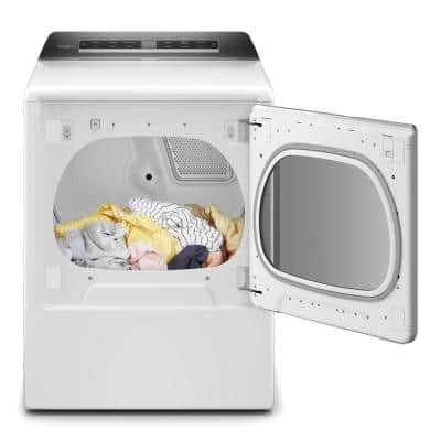 8.8 cu. ft. 240-Volt Smart White Electric Dryer with Steam and Advanced Moisture Sensing Technology, ENERGY STAR