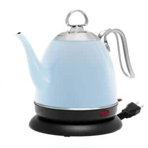 Mia 4-Cup Glacier Blue Electric Kettle with Automatic Shut-Off