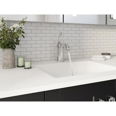Forte Single Hole Single-Handle Low-Arc Water-Saving Bathroom Faucet in Polished Chrome