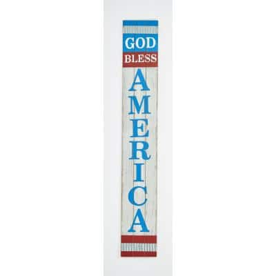 29 in. God Bless America Wood Sign
