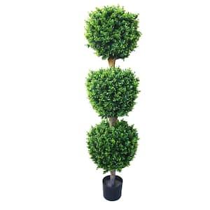 5 ft. Artificial Triple Ball Hedyotis Tree