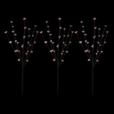 30 in. Red LED Lighted Cherry Blossom Branches (Set of 3)