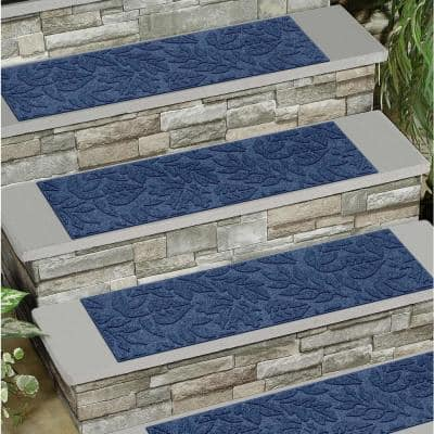 Fall Day 8.5 in. x 30 in. Stair Treads (Set of 4) Navy