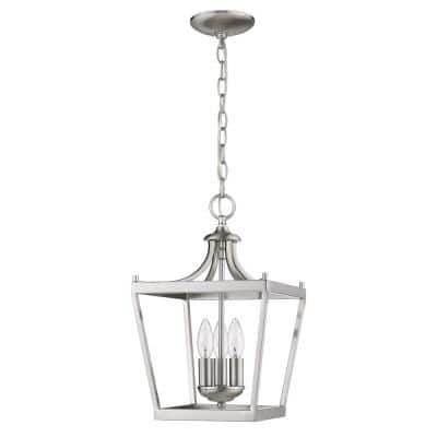 Kennedy 3-Light Satin Nickel Pendant