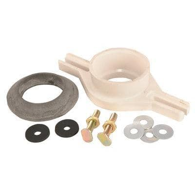 2 in. Adjustable PVC Urinal Flange Kit with Socket/Hub Outlet