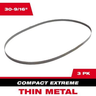 30-9/16 in. 12/14 TPI Compact Extreme Thin Metal Cutting Band Saw Blade (3-Pack) For M12 FUEL Bandsaw