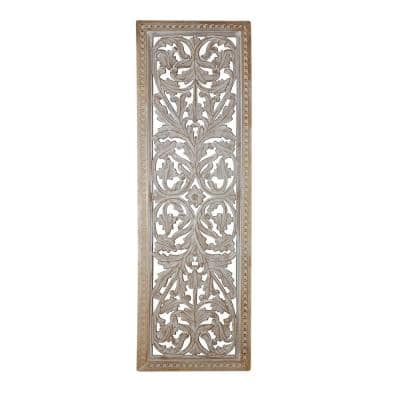 Attractive Mango Wood Wall Panel with Intricate Details