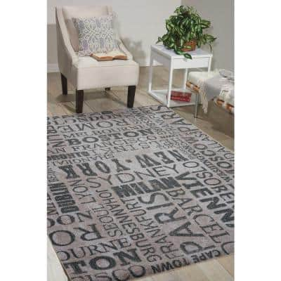 Pattern Destinations Graphite 10 ft. x 13 ft. Abstract Modern Area Rug