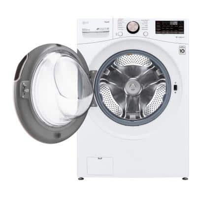 27 in. 4.5 cu. ft. White Ultra Large Capacity Front Load Washer with TurboWash 360 Steam