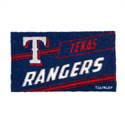 16 in. x 28 in. Texas Rangers MLB Coir Punch Mat