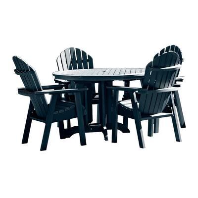 Hamilton Federal Blue 5-Piece Plastic Round Outdoor Dining Set