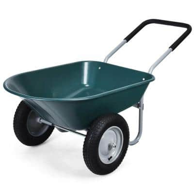 5 cu. ft. Plastic Garden Cart Wheelbarrow