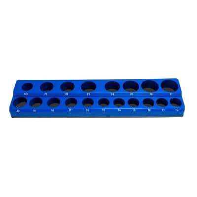 1/2 in. Drive Metric Magnetic Socket Holder (19-Piece)