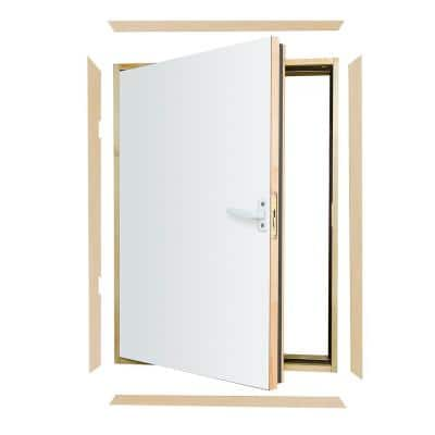 DWF Wall Hatch 21 in. x 31 in. Wooden Fire Rated Insulated Access Door