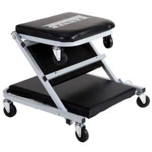 36 in. 300 lbs. Capacity Foldable Creeper in Black