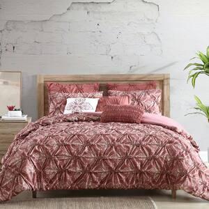 Amaris 8 piece washed-printed Microfiber King Comforter Set