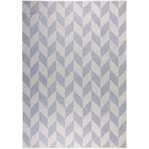 Patio Country Calla Blue/Gray 9 ft. x 12 ft. Indoor/Outdoor Area Rug