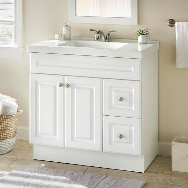 Glacier Bay Glensford 36 In W X 22, Home Depot Bathroom Sinks With Cabinet