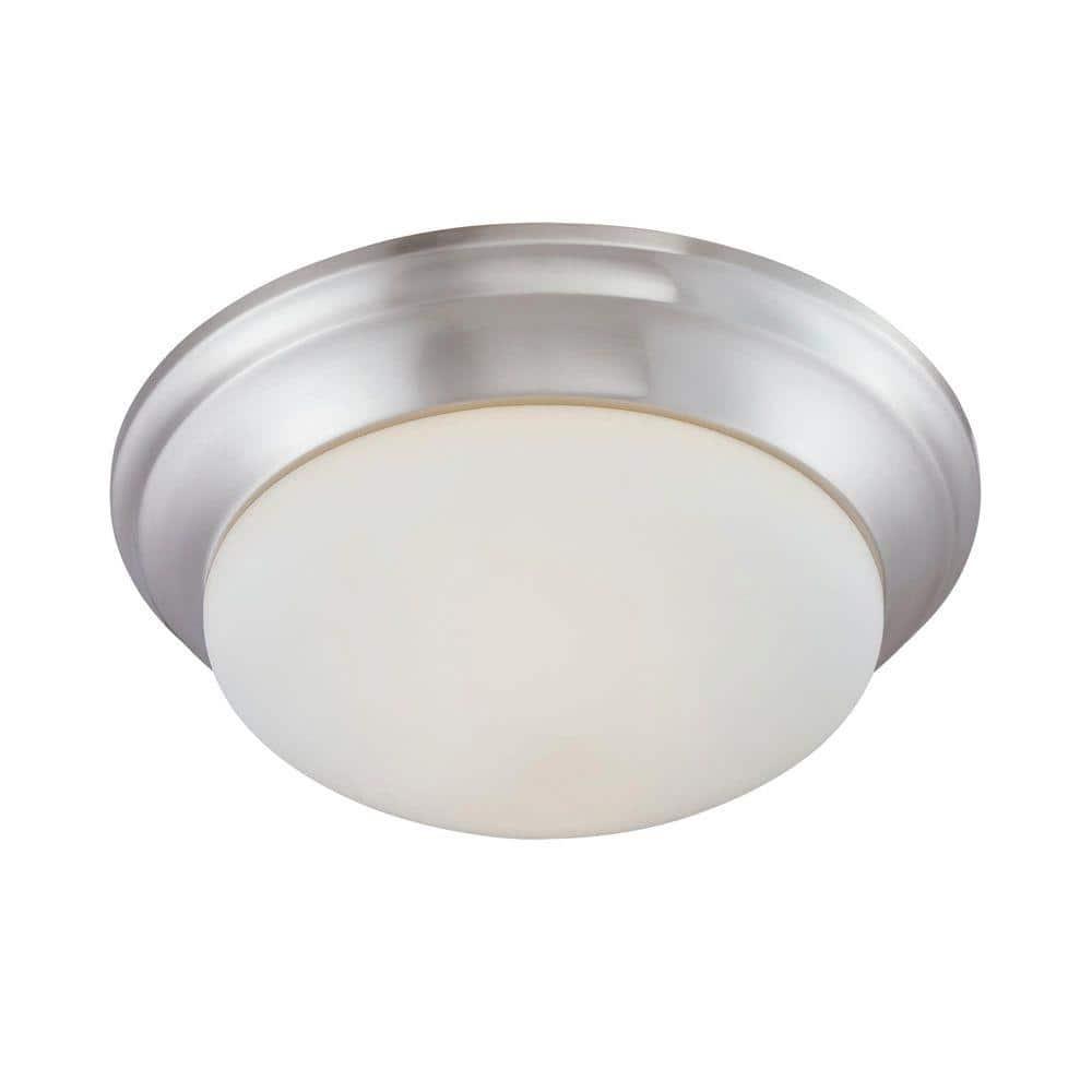 Thomas Lighting 2 Light Brushed Nickel Ceiling Flush Mount 190035217 The Home Depot