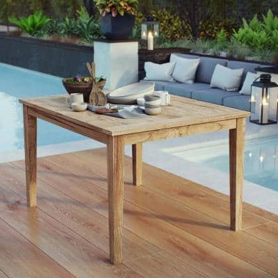 Marina Patio Teak Outdoor Dining Table in Natural