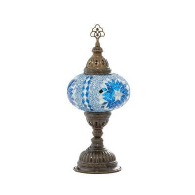 14.75 in. Black Glass Bohemian Accent Lamp
