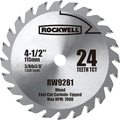 4-1/2 in. TCT Carbide Compact Circular Saw Blade