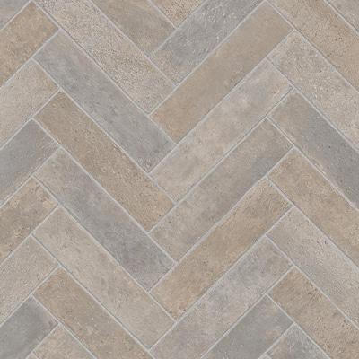Brick Neutral Stone Residential/Light Commercial Vinyl Sheet Flooring 12ft. Wide x Cut to Length