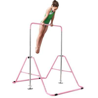 Pink Expandable Gymnastics Bar Junior Training