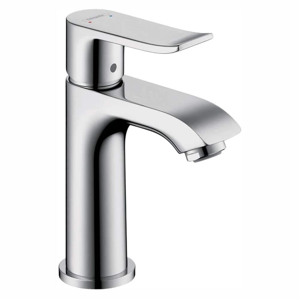 Hansgrohe Metris E 100 Single Hole 1 Handle Low Arc Bathroom Faucet In Chrome 31088001 The Home Depot