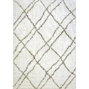 Nordic Ivory/Grey 5 ft. 3 in. x 7 ft. 7 in. Trellis Area Rug