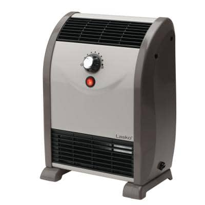 Automatic Air Flow 1500-Watt Electric Convection Portable Space Heater with Tip-Over Safety Switch