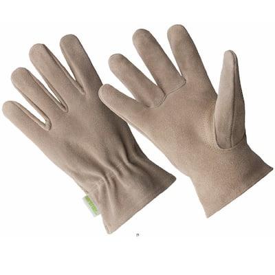 Ladies Premium Beige Suede Driver Glove