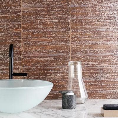 Voyager Textured 12 in. x 48 in. Copper Porcelain Wall Tile (11.62 sq. ft. / 3 pieces / case)