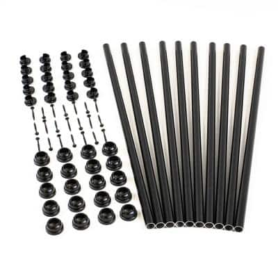 25 in. Snap and Lock Polycarbonate with Aluminum Baluster Kits Round (Case with 10 Kits)