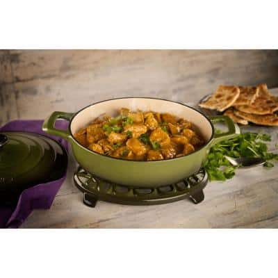 Range Collection 5-Piece Cast Iron Cookware Set in Olive Green