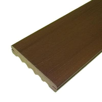 ArmorGuard 1 in. x 6 in. x 12 ft. Grooved Edge Composite Decking Board in Brazilian Walnut