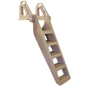 5 Step Wide Flip Up Polyethylene Dock Ladder Distributed by Tommy Docks