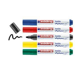 4500 Textile Marker Set, Basic (5-Colors)
