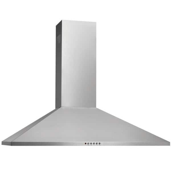 Frigidaire 30 In Convertible Wall Mount Chimney Range Hood In Stainless Steel Fhwc3055ls The Home Depot
