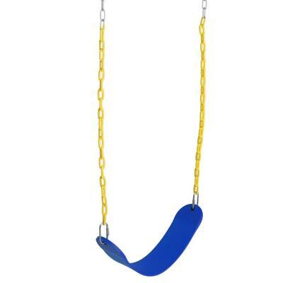 Heavy-Duty Belt Swing Set for Outdoor Play, Blue