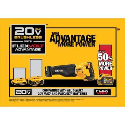 20-Volt MAX Lithium Ion Cordless Brushless Reciprocating Saw with FLEXVOLT ADVANTAGE & (1) FLEXVOLT 6.0Ah Battery Kit