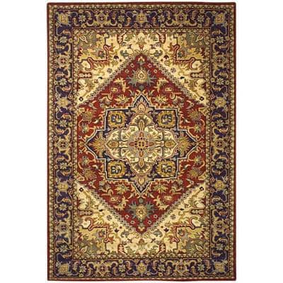 Heritage Red 4 ft. x 6 ft. Area Rug